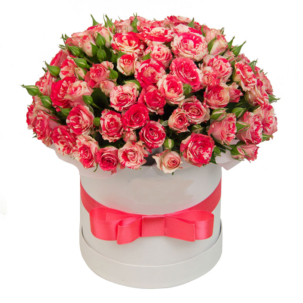 """Цветы в коробке """"Рубиновый сад"""""""